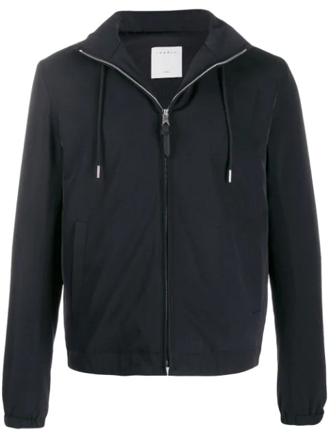 Sandro Orion Hooded Jacket In Blue