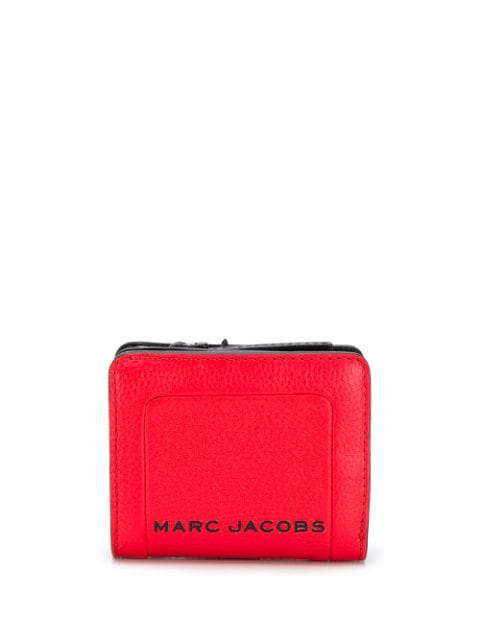 Marc Jacobs Mini Compact Red Leather Wallet In 612 Geranium