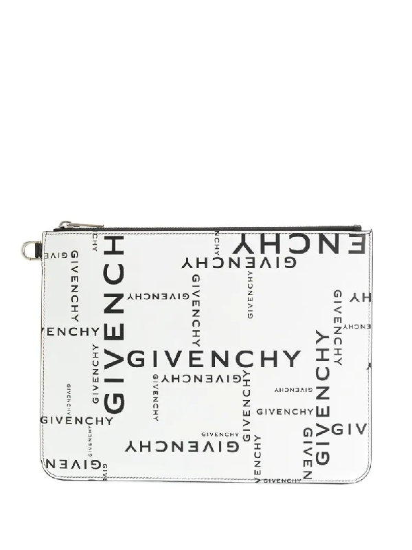 Givenchy Multicolor Leather Clutch In Black