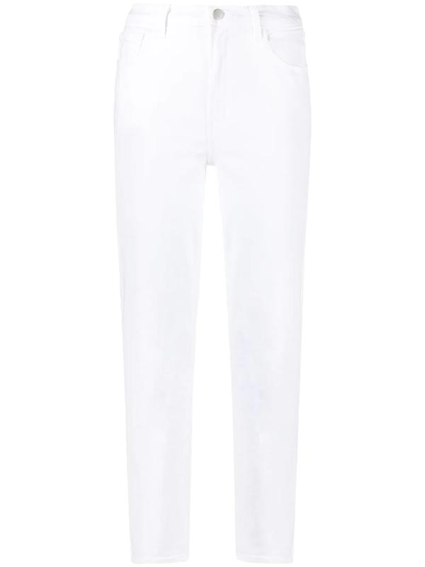 J Brand Five Pockets Jeans In White Denim