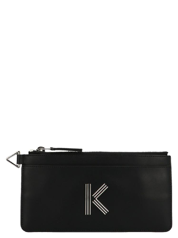 Kenzo K Bag Logo Wallet In Black