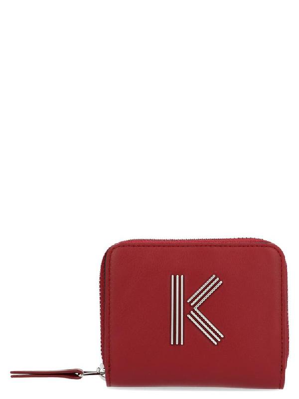Kenzo K Wallet In Red