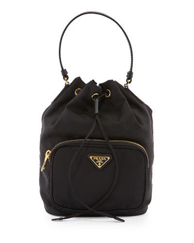 f0987c8e9c Prada Tessuto Mini Bucket Crossbody Bag, Black (Nero) | ModeSens