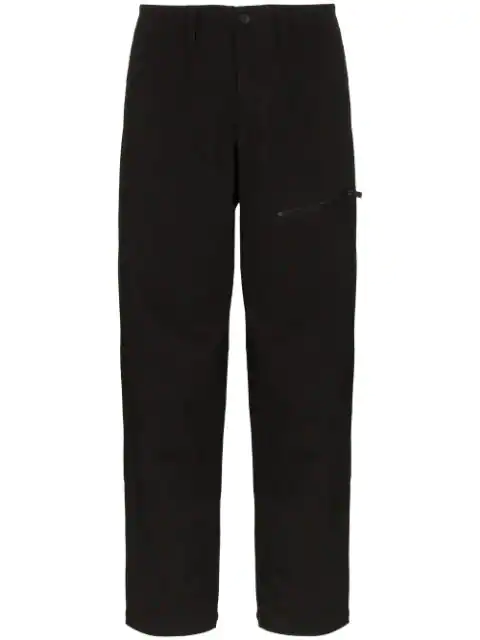 Yohji Yamamoto Cropped Straight-leg Trousers In Black