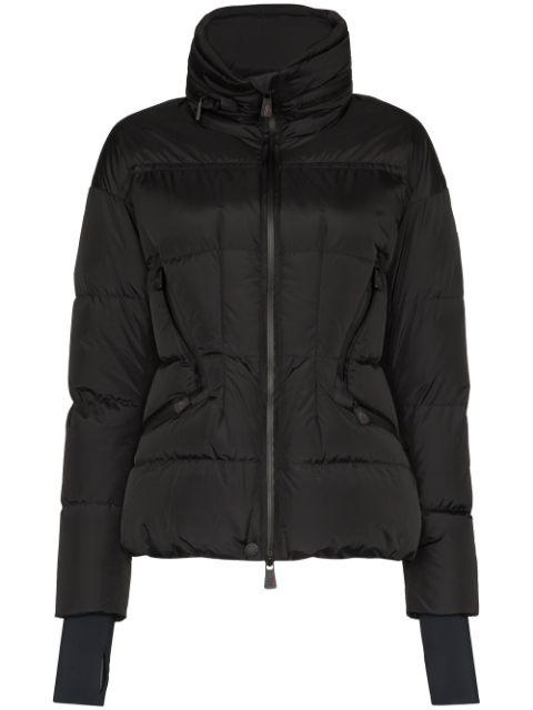 Moncler Grenoble Zip-front Padded Jacket In Black