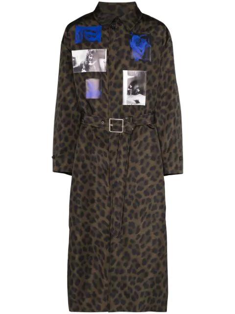 Raf Simons Leopard Print Photo Coat In 0023 Animalier