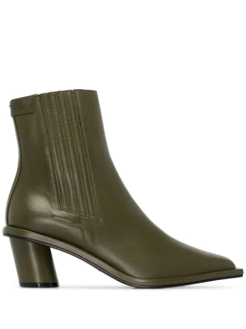 Reike Nen Stitched 60Mm Ankle Boots In Khaki