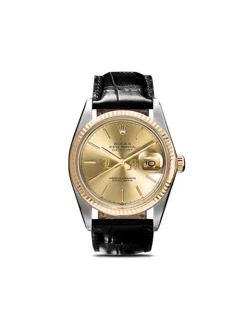 Lizzie Mandler Fine Jewelry Rolex Oyster Perpetual Datejust 36mm In Gold