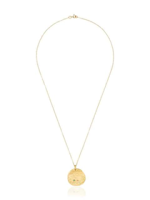 Orit Elhanati 18k Yellow Gold Diamond Disc Necklace