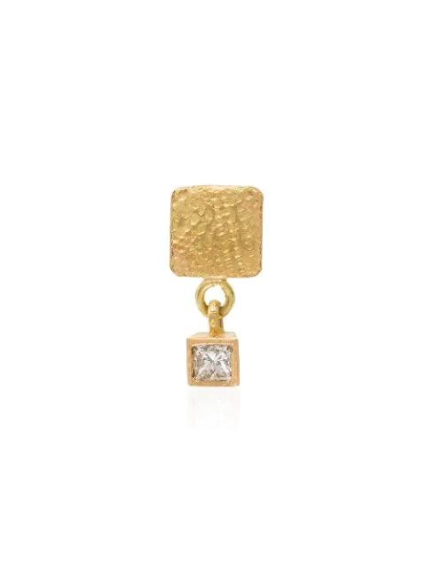 Orit Elhanati 18k Yellow Gold Roxy Mezuzah Charm Diamond Earring