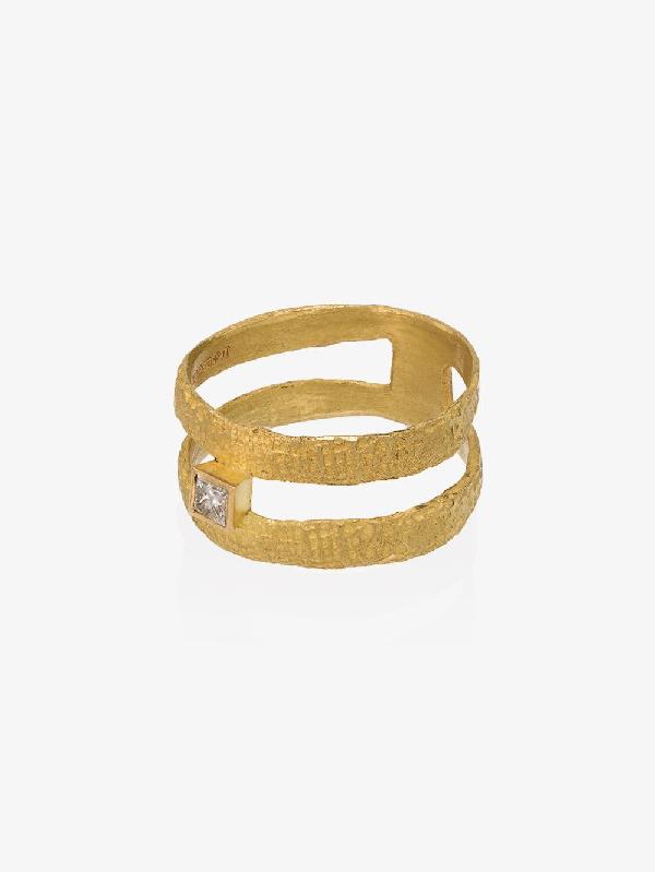 Orit Elhanati 18k Yellow Gold Double Band Diamond Ring