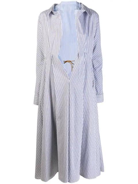 Marni White Women's Nougat Illusion Shirt Coat