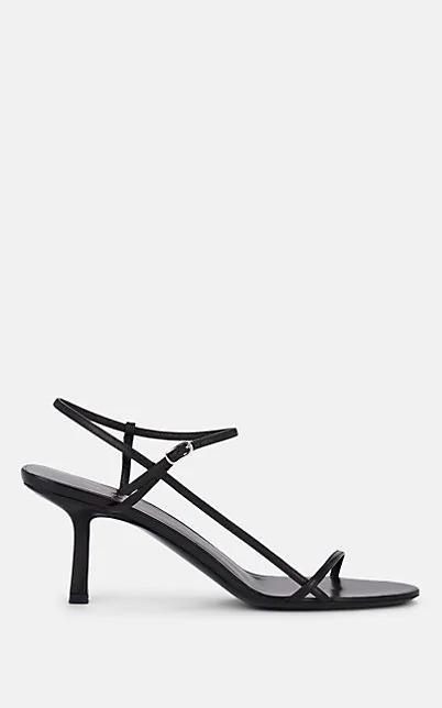 The Row Black Women's Bare Sandal 65Mm
