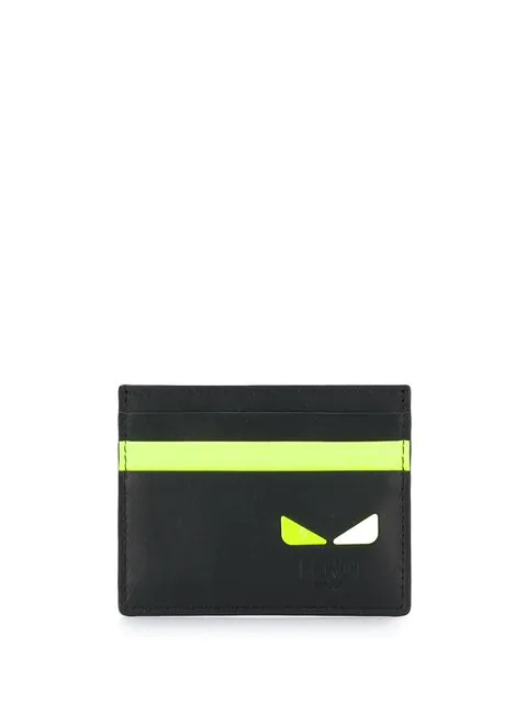 Fendi I See You Motif Cardholder Black/Yellow