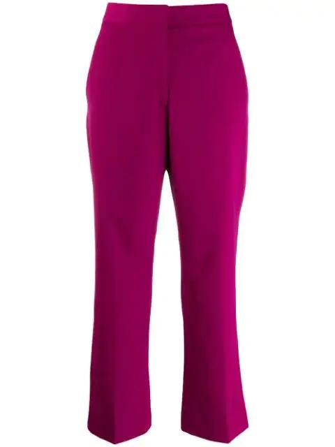Stella Mccartney Purple Women's Purple Wool Cropped Trousers