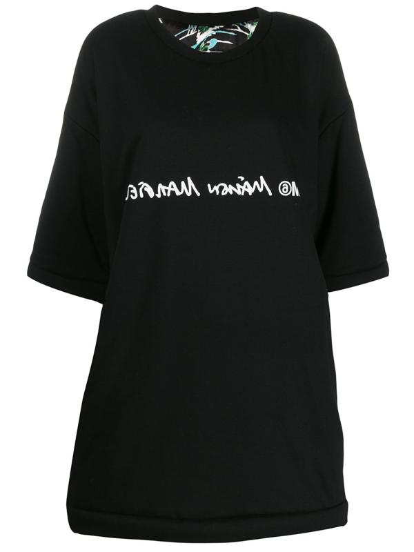 Mm6 Maison Margiela Reversible Oversized Dress In Black