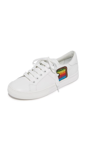 3ba422987 Marc Jacobs White Leather Empire Toast Low Top Sneaker In White Multi