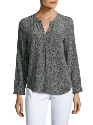 Joie Peterson Printed Silk Top In Caviar