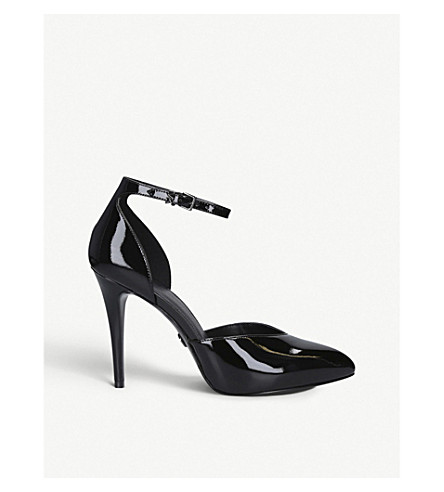 Michael Michael Kors Elysia Patent Leather D'orsay Courts In Black