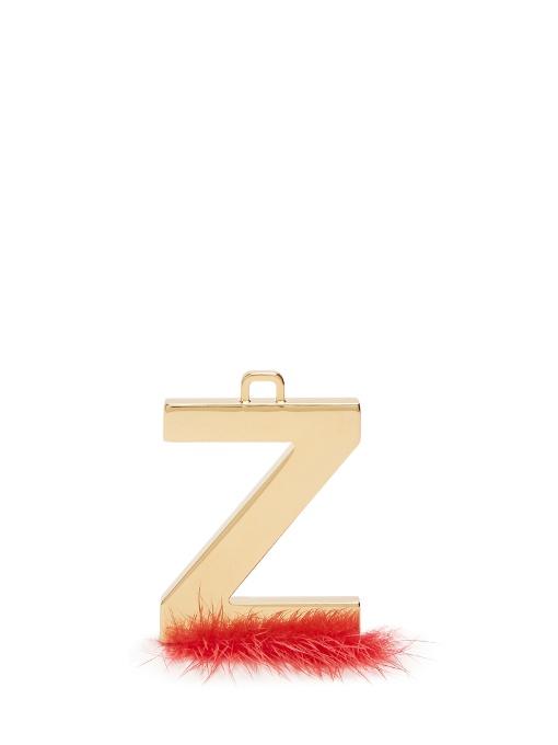 78265e2c70c1 Fendi Abclick Letter Z Mink Charm For Handbag