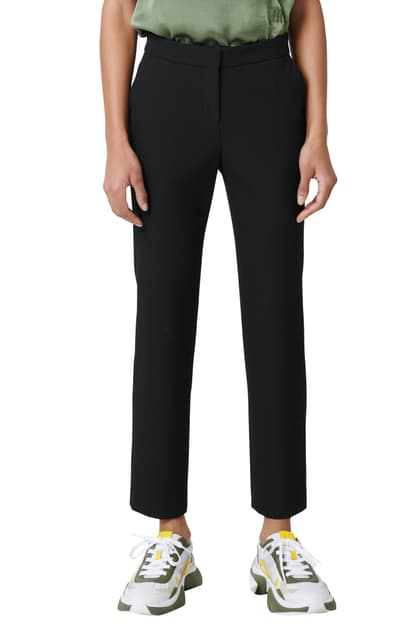 Maje Frayed High-rise Straight-leg Jeans In Black