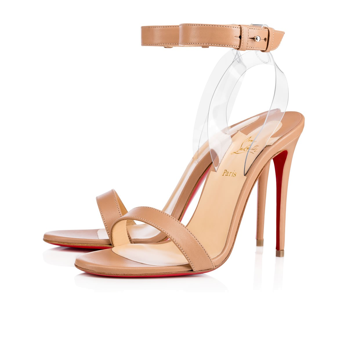 83480eeb82fd Christian Louboutin Jonatina Illusion Ankle-Strap Red Sole Sandals ...