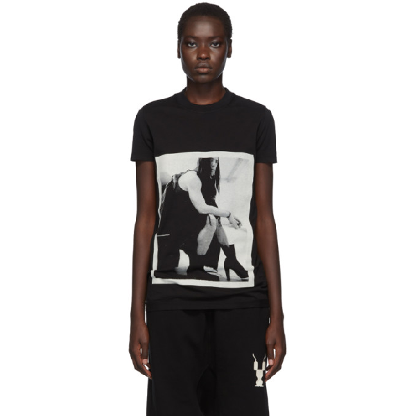 Rick Owens Drkshdw Drkshdw By Rick Owens Crew Level Tee In Black In 09 Black