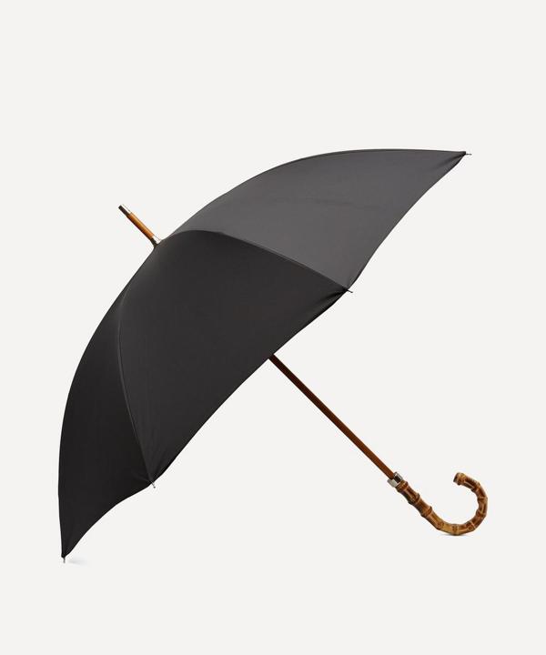 London Undercover City Gent Whangee Handle Umbrella In Black