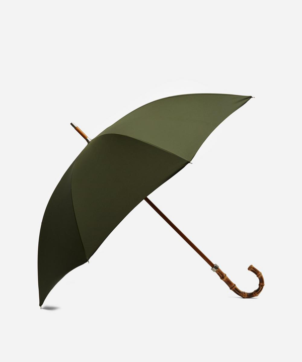 London Undercover City Gent Whangee Handle Umbrella In Olive