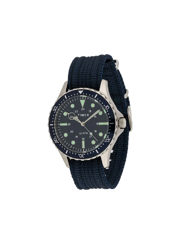 Timex Navi Xl 41mm Watch In Blue