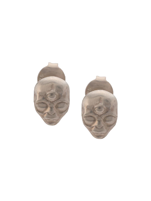 Vibe Harsløf Alien Stud Earrings In Silver