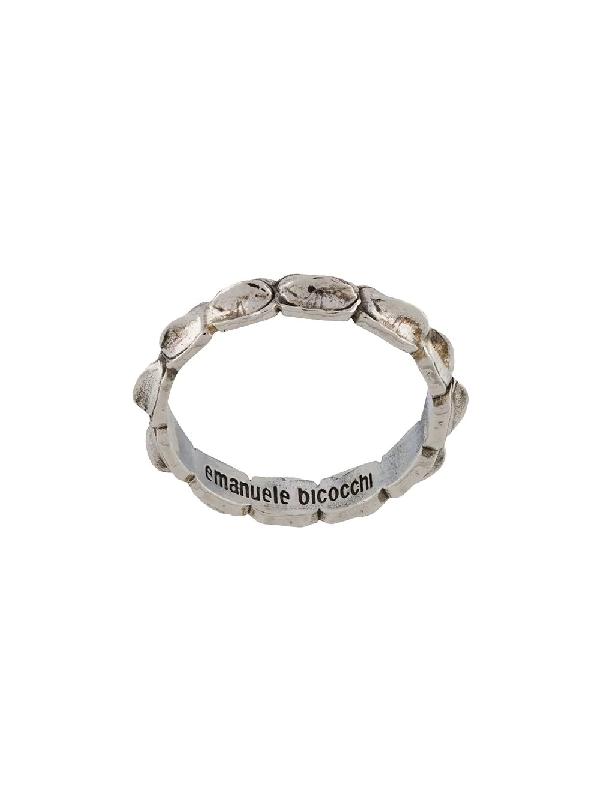 Emanuele Bicocchi Croc Ring In Metallic