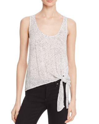 Bella Dahl Side Tie Tank In Rainstorm