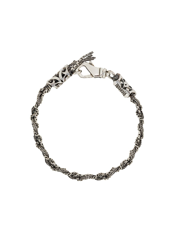 Emanuele Bicocchi Braided Bracelet In Silver