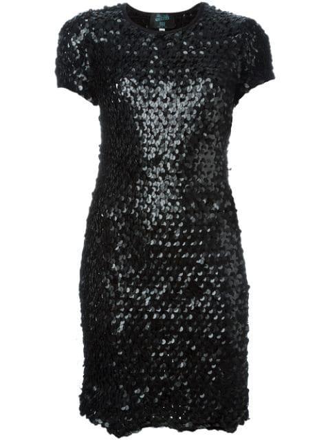 Jean Paul Gaultier Sequinned Dress In Black