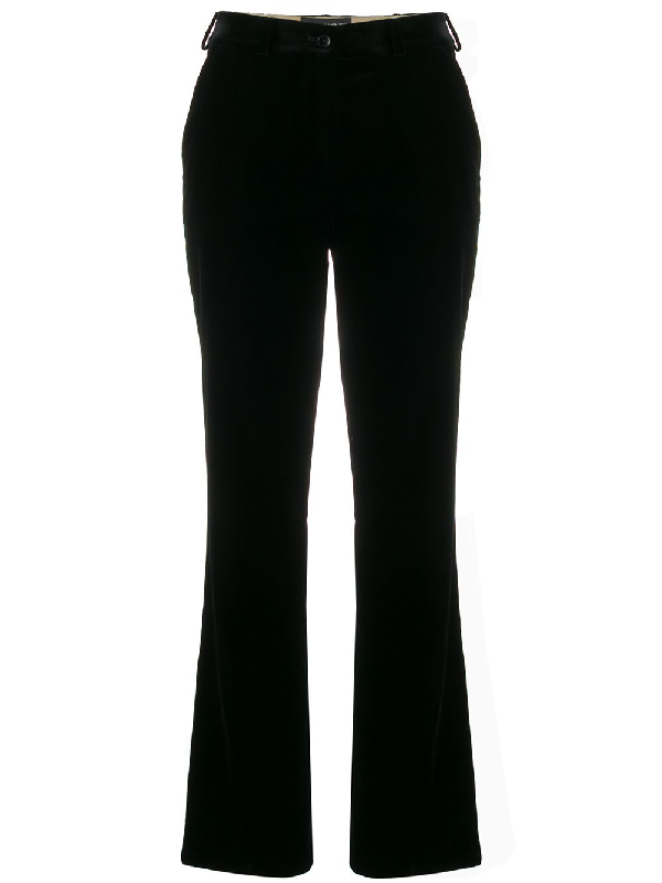 Etro Crushed Velvet Suit Trousers In 0001