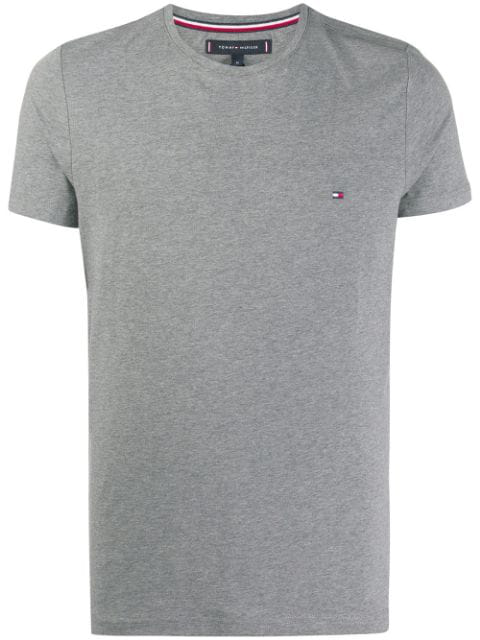 Tommy Hilfiger Logo Embroidered T In Grey