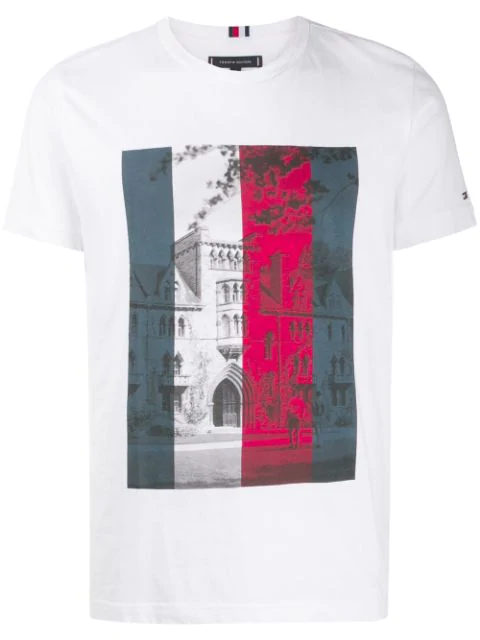 Tommy Hilfiger Printed T In Yaf-bright White
