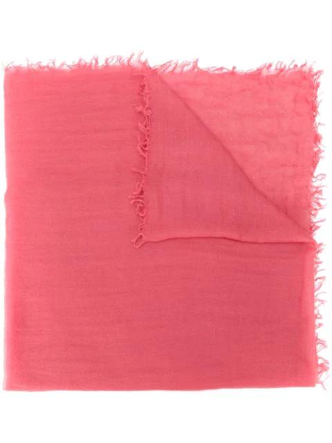 Aspesi Fine-knit Scarf In Pink