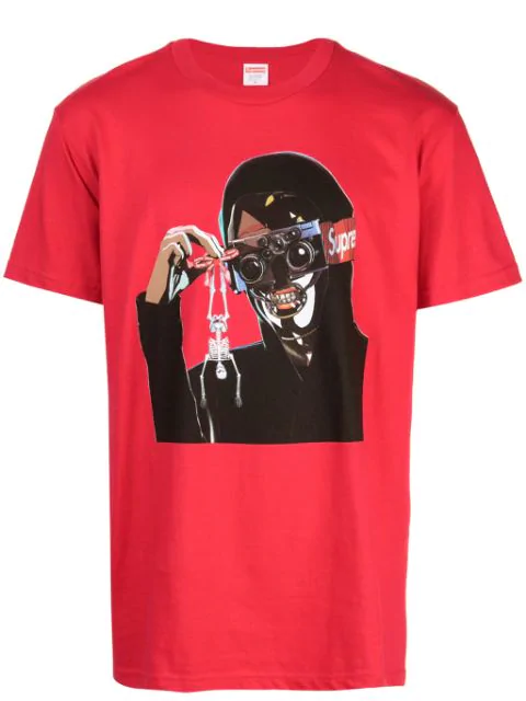 Supreme Logo Graphic T-shirt In Red