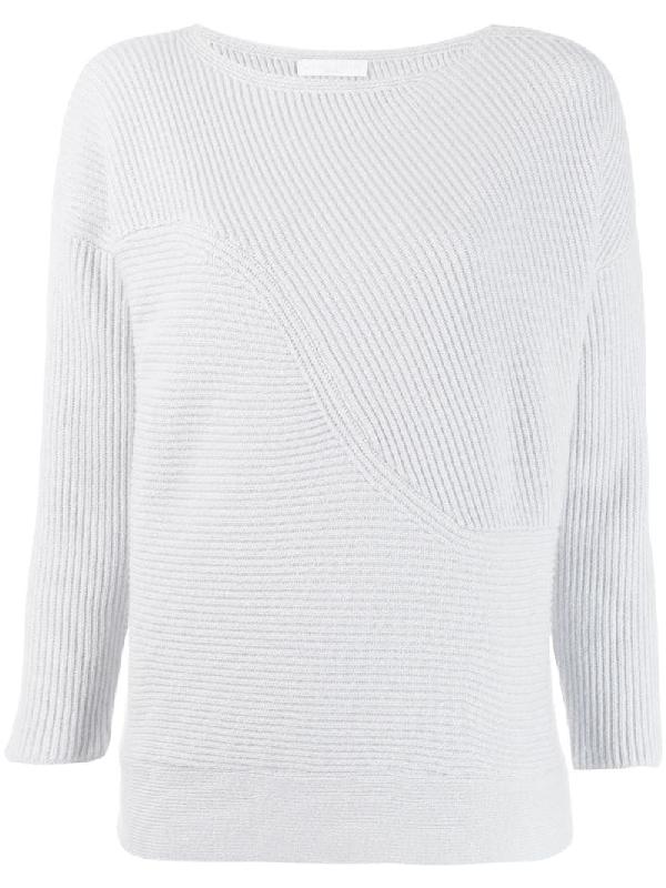 Fabiana Filippi Ribbed Knit Sweater In Grey