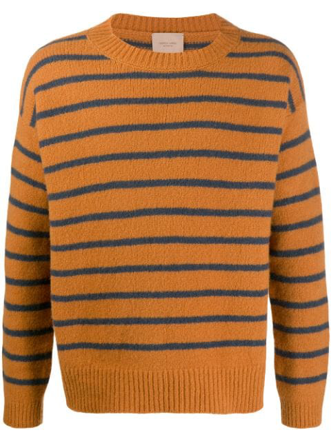 Federico Curradi Striped Wool-Knit Jumper In Brown