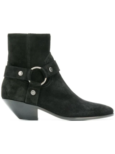 Saint Laurent Ankle Boots Bt300 Suede Black