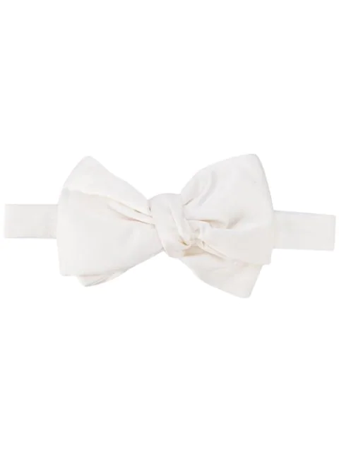 Givenchy Silk Bow Tie In White