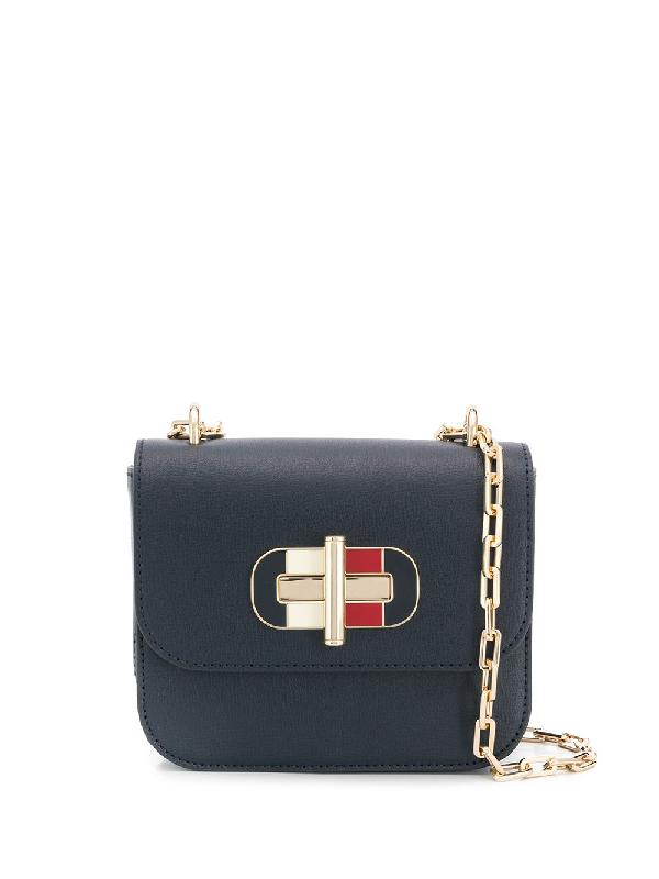 Tommy Hilfiger Leather Shoulder Bag In Blue