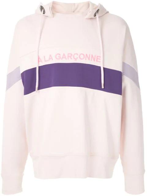 À La Garçonne Stripes  + Hering Hoodie In Pink