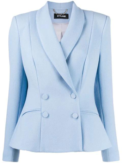 Styland Shawl Lapel Blazer In Blue