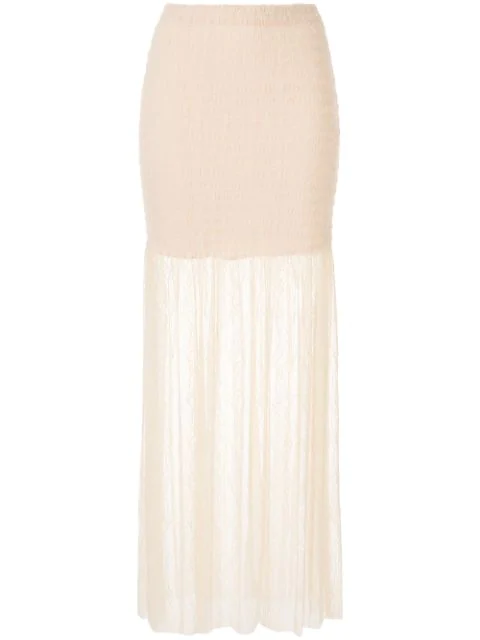 Alice Mccall Harvest Moon Lace Skirt In Neutrals