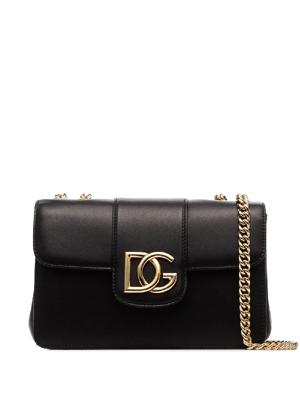 Dolce & Gabbana Small Millenials Leather Shoulder Bag In Black