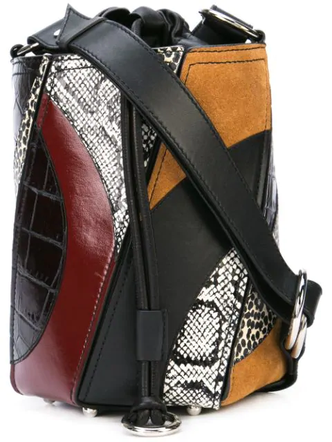 Proenza Schouler Small Hex Multimedia Bucket Bag In Black